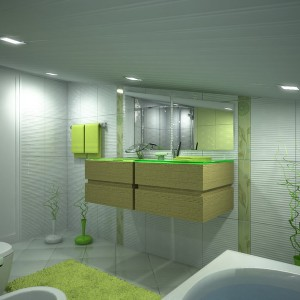 Scheme-Plan-For-Bathroom-Ceiling-Scheme-Plan-Escorted-By-Mirror-Wall-Scheme-Plan-Escorted-By-Washbasin-Cabinet-White-Tubs-Escorted-By-Toilet-Escorted-By-Ceiling-Lamps-Scheme-Plan