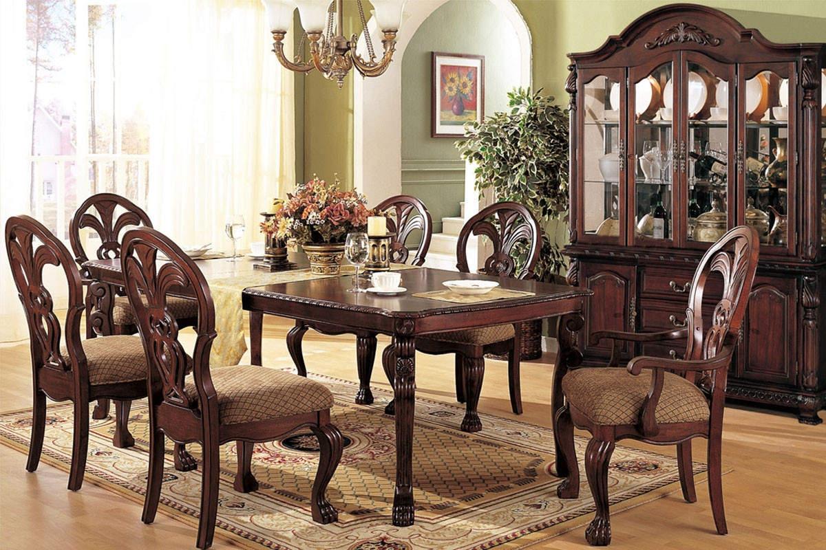 Golden art - Lavish antique dining room furniture emphasizing classic elegance and luxury ...