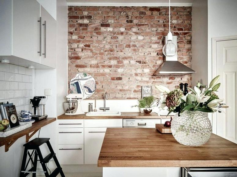 Grey Brick Wallpaper Kitchen Accent Wall Red Tiles Images White Ceramic On Adorable Golden Art